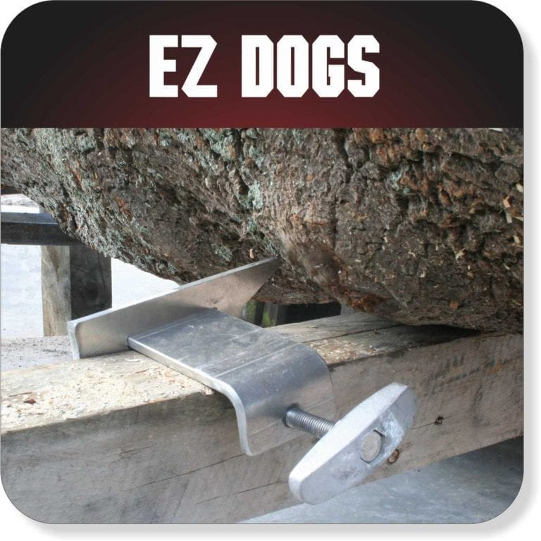 Portable Sawmill Accessories - EZ Dogs for log bunks