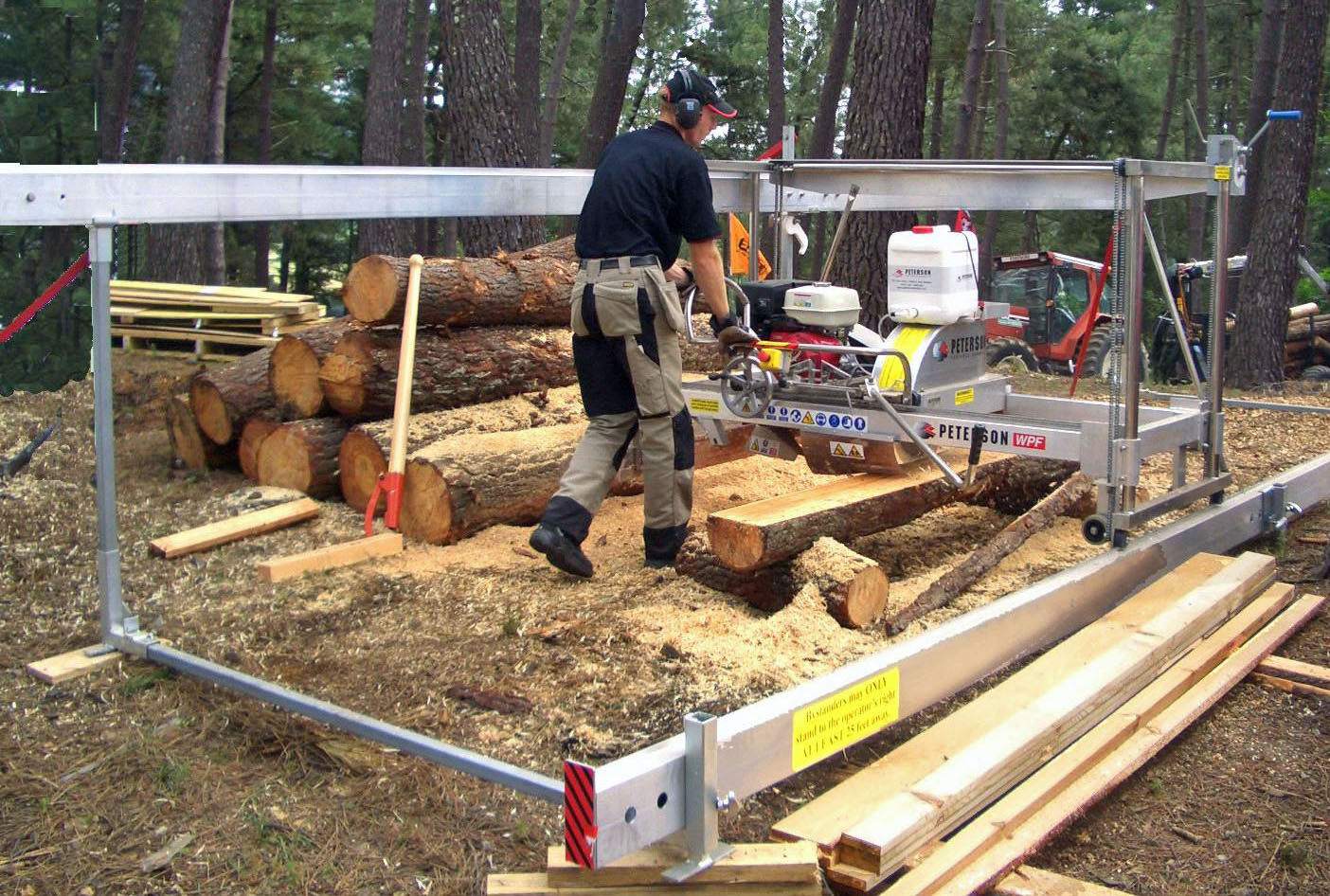 Productive Sawmilling With The Peterson Winch Production