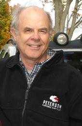 Peter Throop wearing his Peterson clothing.