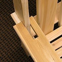 Test fit the DIY Garden bench arm rests.