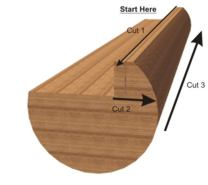 Great milling tips for milling solo is to cut vertical first.