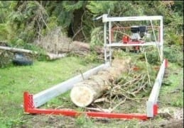 Alan Coyle field-testing the JP Sawmill