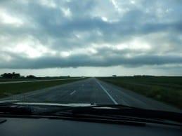 Driving to Wilkins Tree Farm.