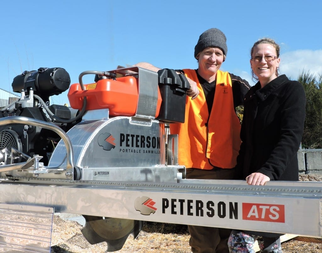 Chris and Kerris Browne, with the Peterson ATS Sawmill. Now at the lowest US prices since 2011