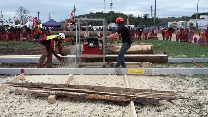 The Best Portable Sawmill (swingblade) production rate at the 2016 Shootout.