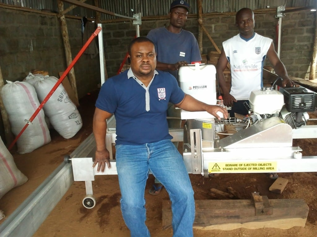 Peterson Portable Sawmill in Africa