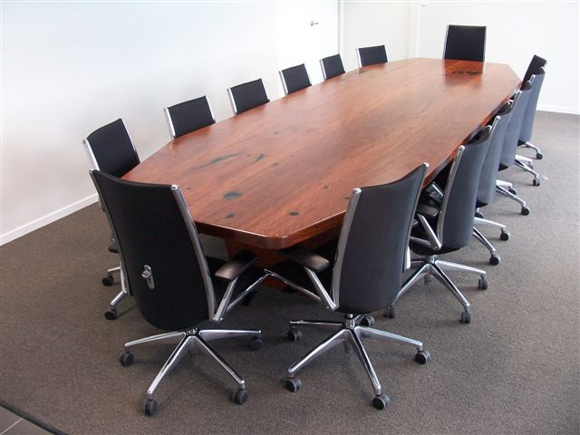 Sawmilling made easy work of this boardroom table