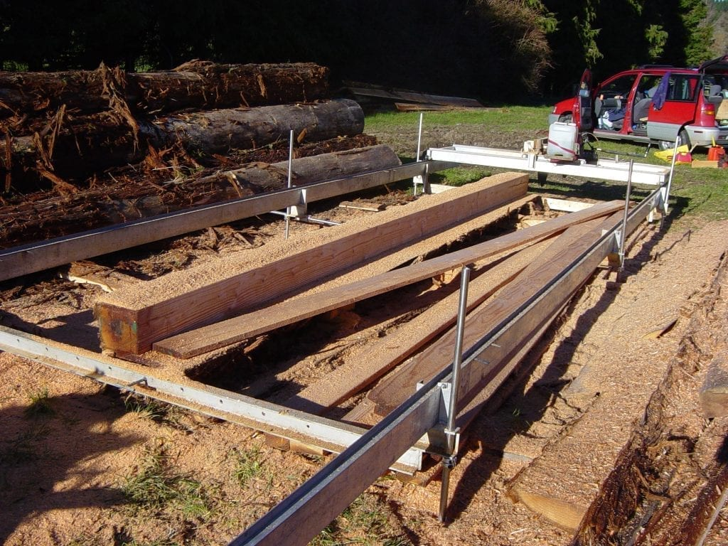 Standard frame Peterson sawmill in New Zealand