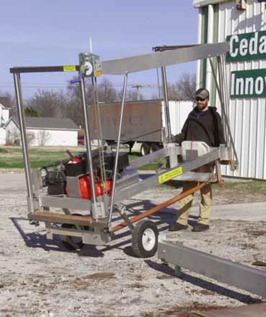Portable Slabber Mill owned by Jesse Kemp