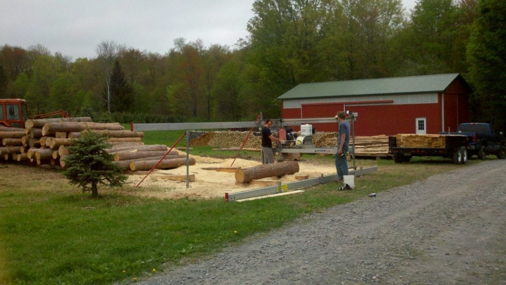 Peterson Portable Sawmill owned by Timbersports Competitor, Nathan Waterfield