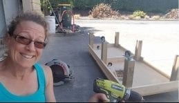 Kerris and powertools, home woodworking project
