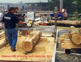 Bill Shore operating his Peterson WPF mills in the US at Mother Earth News Fair, Pennsylvania 2016