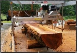 New Peterson Sawmill owner, Steve Andreef's, Automated Swingblade Mill setup