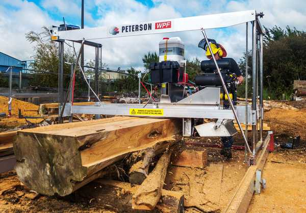 Peterson's versatile Winch Production Frame Sawmill