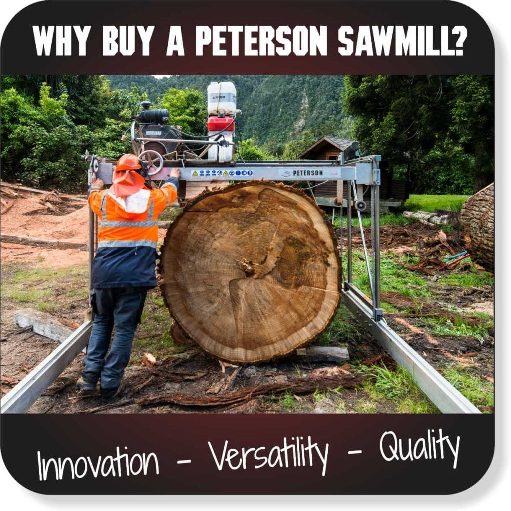 Peterson Portable Sawmills for Sale - The Advantage of a Peterson