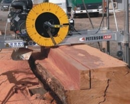 Automated Swingblade Commercial Sawmill by Peterson Portable Sawmills