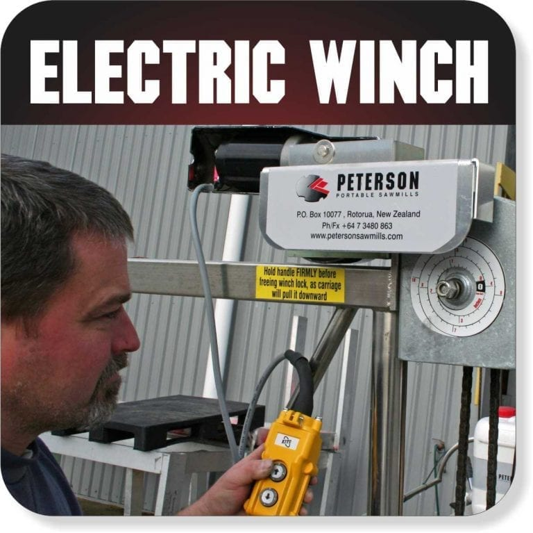 Portable Sawmill Accessories - Electric Winch