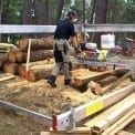 Using the Winch Production Frame for high production sawmilling