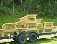 Scot Postle has made dozens of picnic tables for church with lumber from his Peterson Sawmill.
