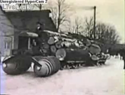 Fantastic screw propelled vehicle