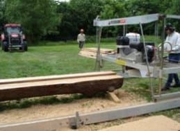 Andy Harvey using his WPF Sawmill in the field.