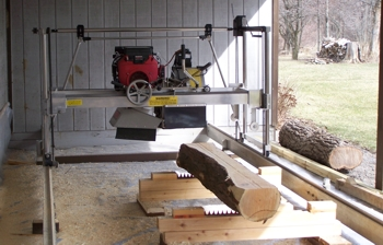 Dave McElwain's secondhand sawmill.