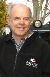 Peter Throop wearing his Peterson clothing.