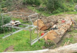 Ian Abraham's Peterson Sawmill - all set-up and ready to mill.