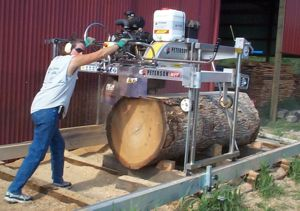 Tammy Allen milling with the Peterson Sawmill.