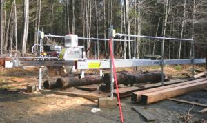 Chad Burrell's ATS Sawmill ready to start milling.