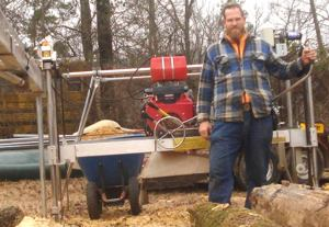 Nathan Dearyan with his WPF Peterson Sawmill.