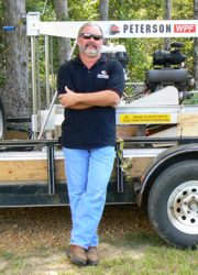 Jimmy Edwards with his Peterson WPF Sawmill.