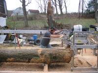 Paul Gregor custom milling white oak.