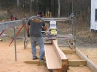 Paul Gregor milling dimensional lumber.