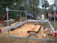Ken Hodges cutting oversize log.