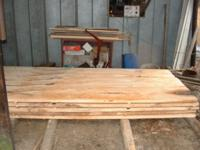 First boards that Ken Hodges cut with his new Peterson Sawmill.