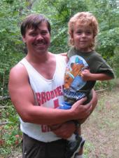 Glenn Marquette - with his son.