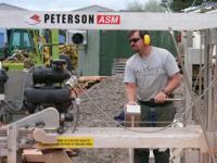 Glenn Marquette training on his new Peterson Sawmill.