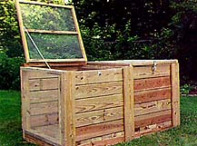 Finished DIY Compost Bin.