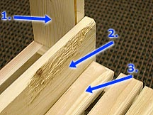 Position of slats on DIY Garden Bench.
