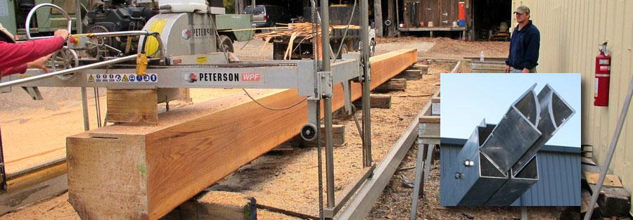 rigid tracks portable sawmill