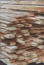 Stack of Timber all cut using parallel to grain cutting system.