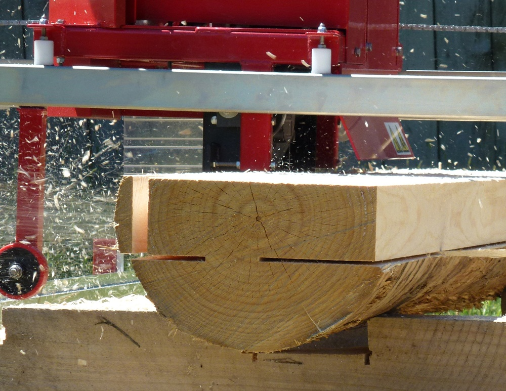 Double cutting on the Junior Peterson Sawmill.