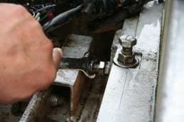 An example of the Swingmill blade adjustment points