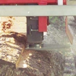 The extremely precise pivot point on the Junior Peterson Sawmill.