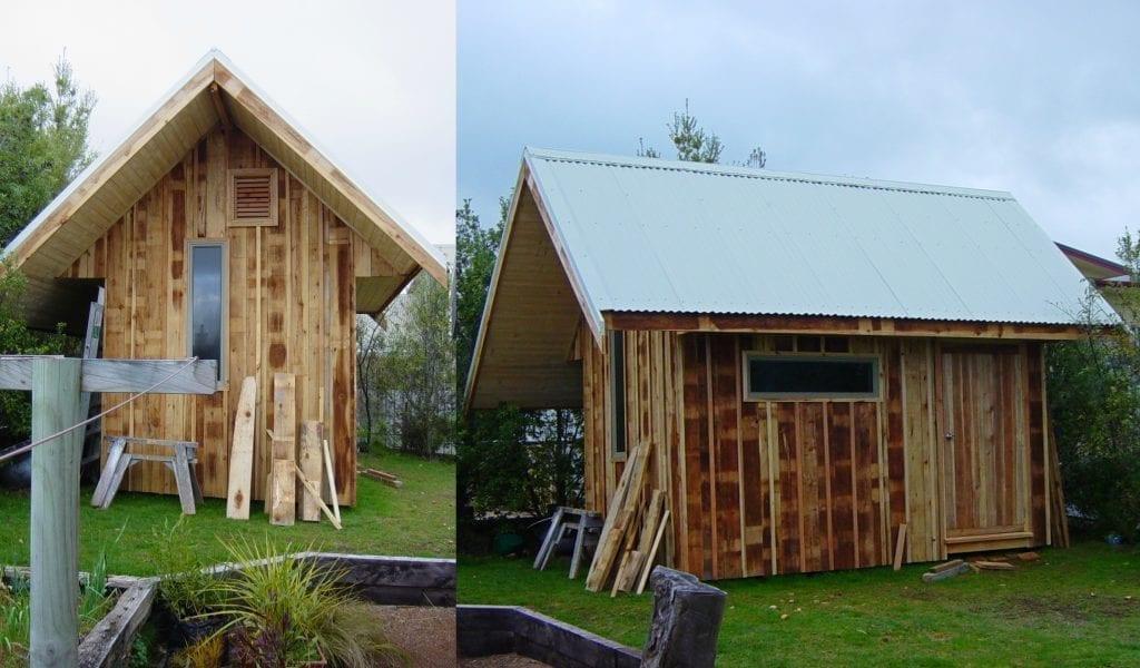 Mike's first shed build - nearly 10 years later, the shed still stands strong.