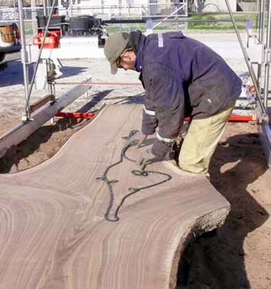 milling walnut logs