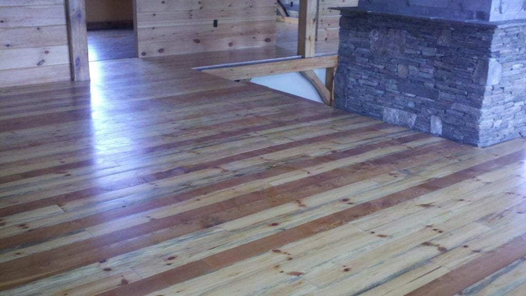 Peterson Sawmill cuts lumber for house build