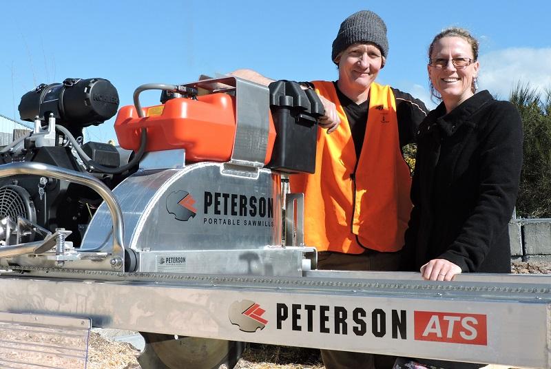 Chris and Kerris Browne - Peterson Portable Sawmills Rotorua New Zealand