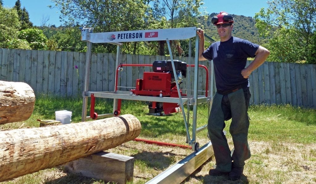 Small sawmill, big features - Junior Peterson Portable Mill